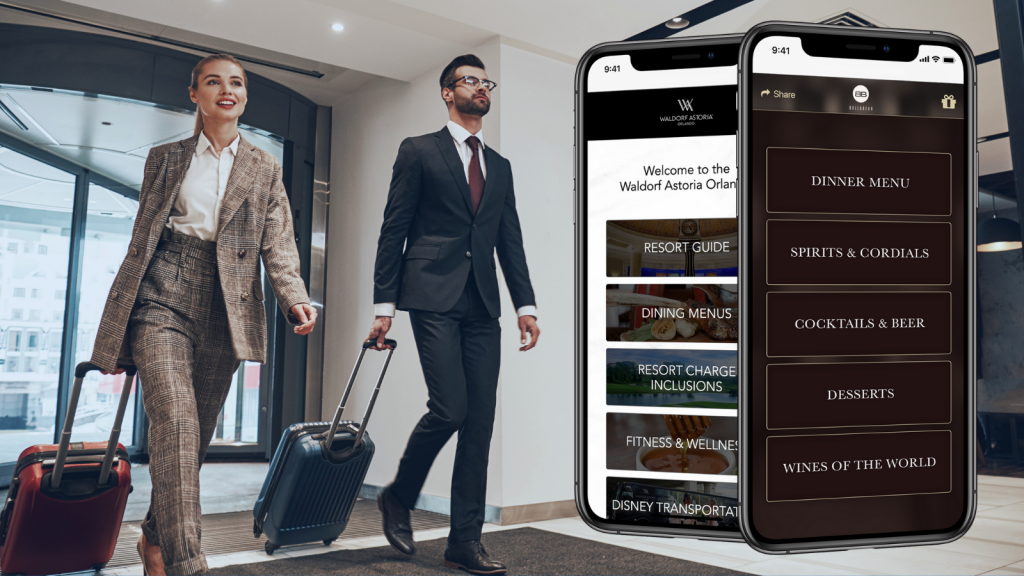 QR Code for Hotel Menus - Contactless Check-in Packets -BYOM™ powered by Uptown Network