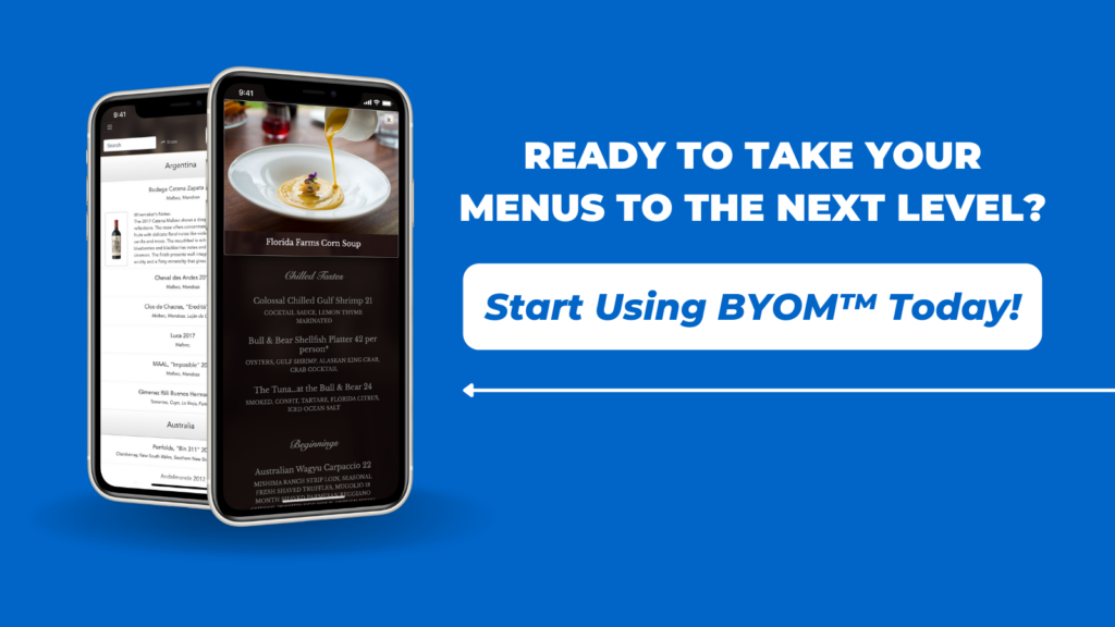 QR Code For Restaurant Menus – Take Your Menus to the Next Level - BYOM™ powered by Uptown Network